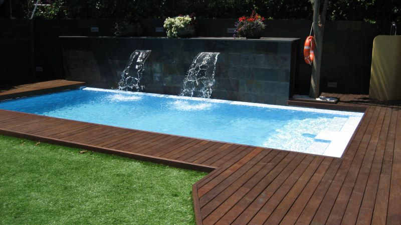 Piscinas obra peque as buscar con google piscinas pequenas pinterest patios pool water - Piscinas pequenas de obra ...