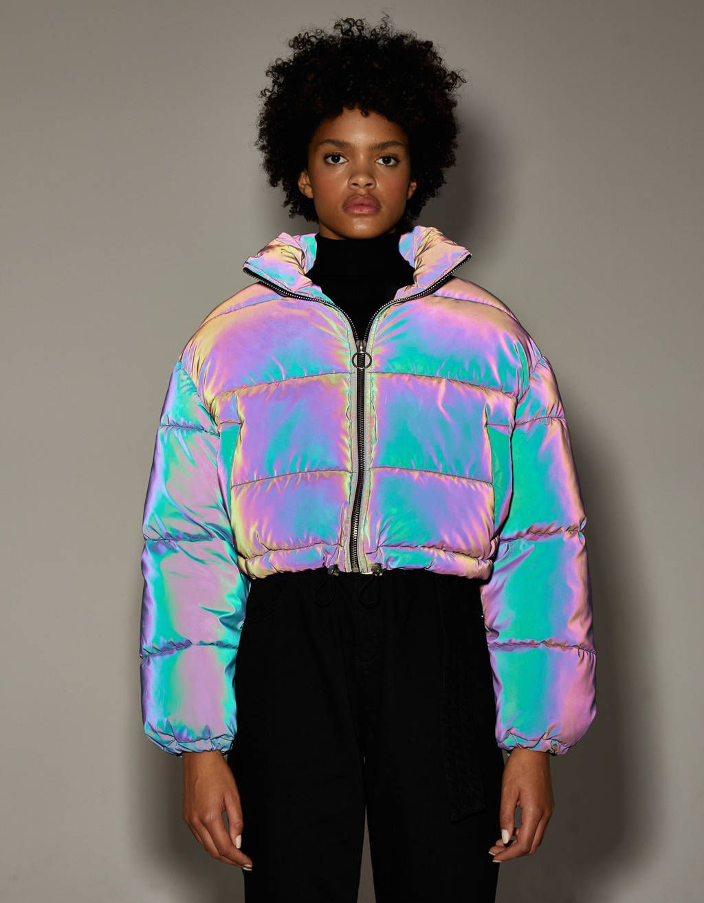 Reflective Puffer Jacket Discover This And Many More Items In Bershka With New Products Every Week Reflective Clothing Fashion Holographic Fashion [ 1313 x 1024 Pixel ]