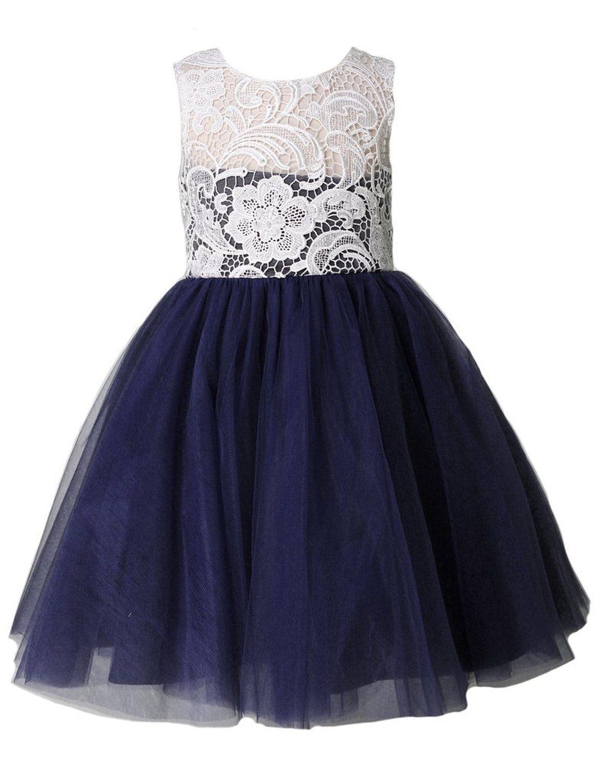 Thstylee lace tulle flower girl dress little girl toddler kids