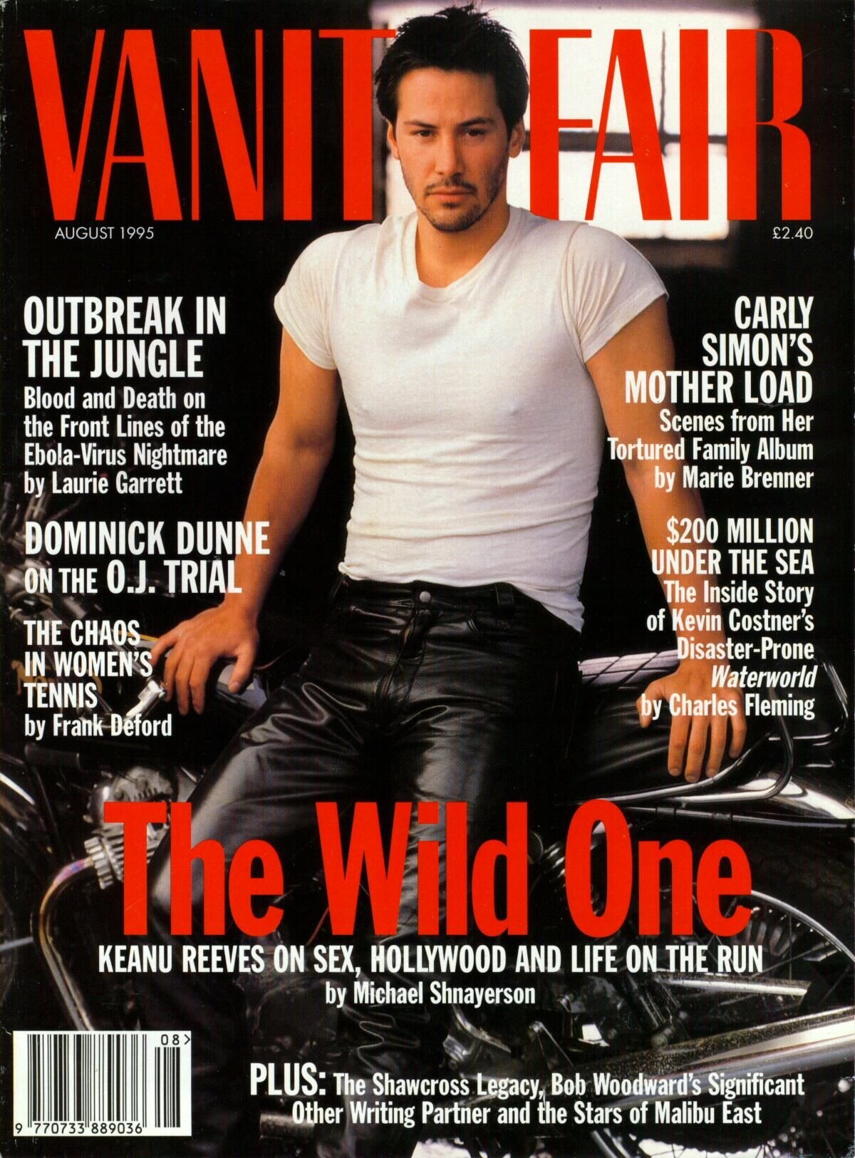 Image result for in what magazine is keanu reeves in leather pants on a bike in magazine