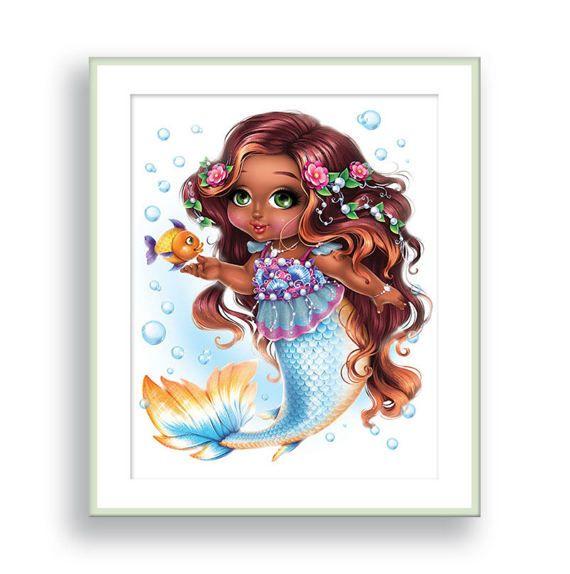 Fairy wall art african american girls decor tooth room nursery prints canvas also rh pinterest