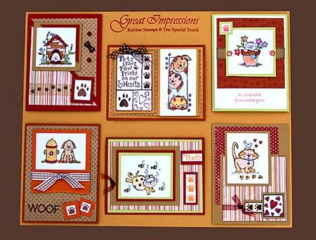 July 2008 DIY Artboard of Cards & Stamps from GreatImpressionsStamps.com