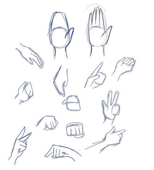 Hand Tutorial Drawing Anime Hands Drawings Drawing Tips