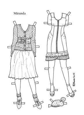 Karen`s Paper Dolls: Miranda 1-4 Paper Doll to Print and Colour. Miranda 1-4…