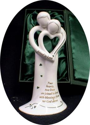 St Patricks Day Luck Of The Irish Modern Green Wedding Cake Topper