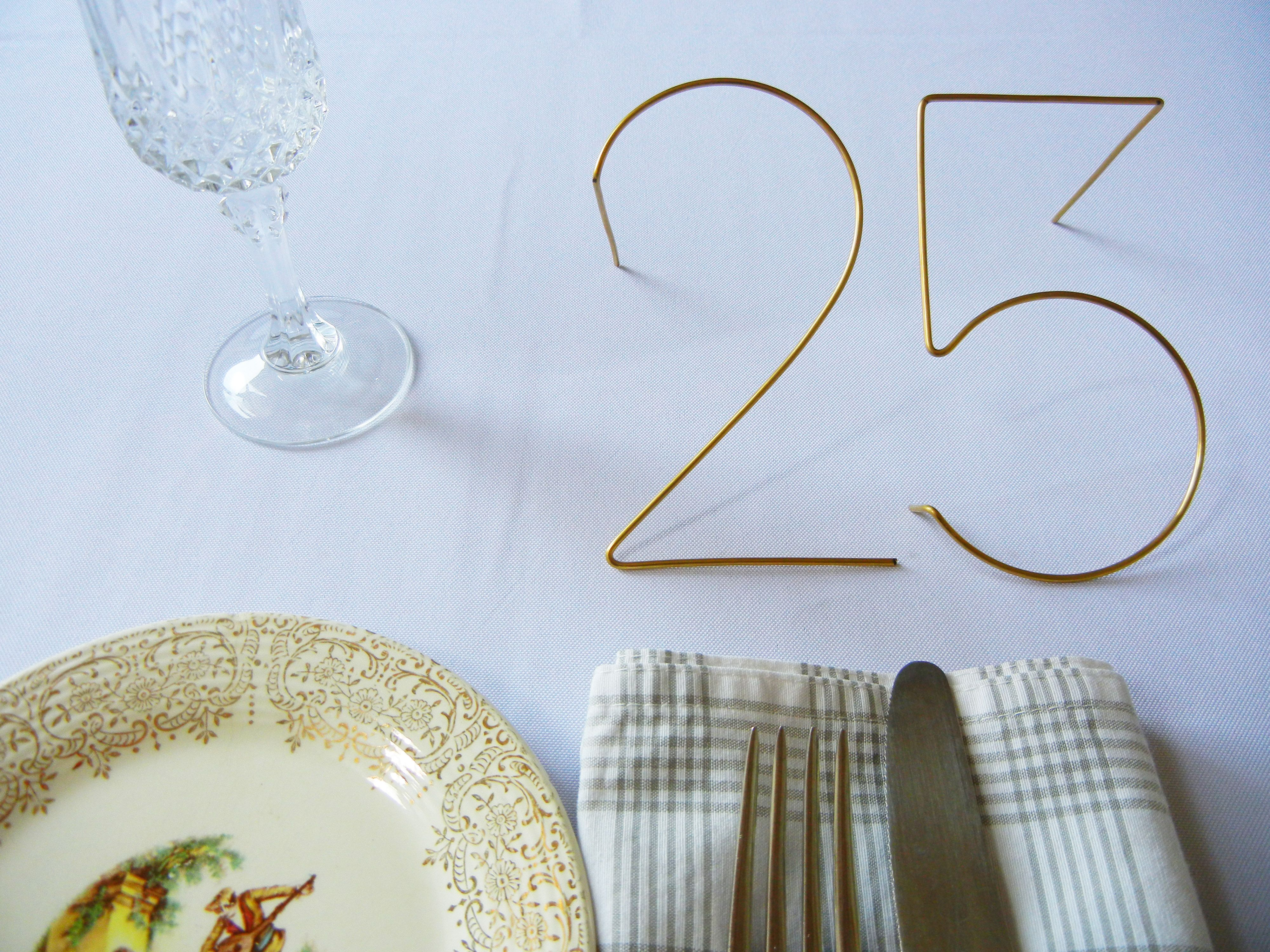 elegant wire leaning numbers the most unique table
