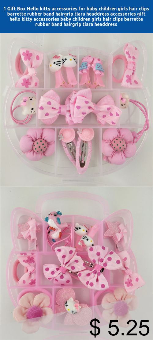 e1cbe5da3 [Only $5.25] 1 Gift Box Hello kitty accessories for baby children girls  hair clips barrette rubber band hairgrip tiara headdress accessories #gift # hello ...