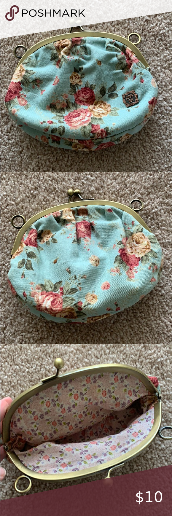 NEW 8 items for 15💃Anna sui floral makeup bag in 2020