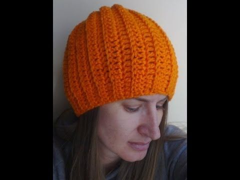 Easy Ribbed Hat Crochet Tutorial - Can be made into a slouch - YouTube e7cd1bfe929