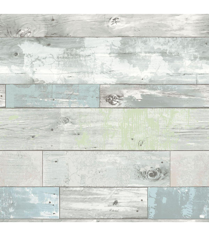Wallpops Nuwallpaper Peel Stick Wallpaper Beachwood Joann Vinyl Wallpaper Nuwallpaper How To Distress Wood