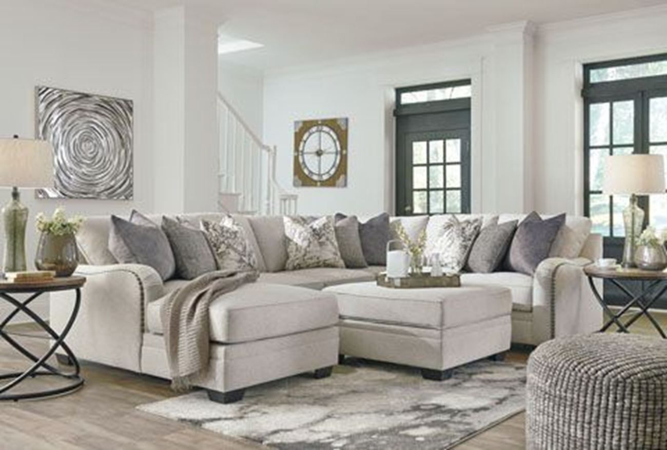 Dellara 4 Piece Sectional B French Country Living Room Living