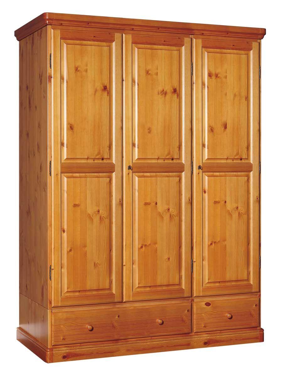 Armadio rustico in pino massello di svezia con cassetti proposto in finitura miele www - Mobili in pino di svezia ...