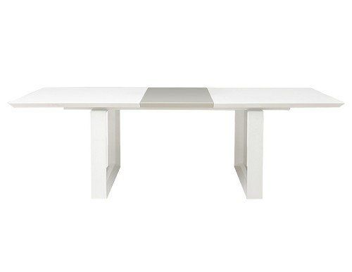 Amazon Com Modern White Lacquer Conference Table With Gray