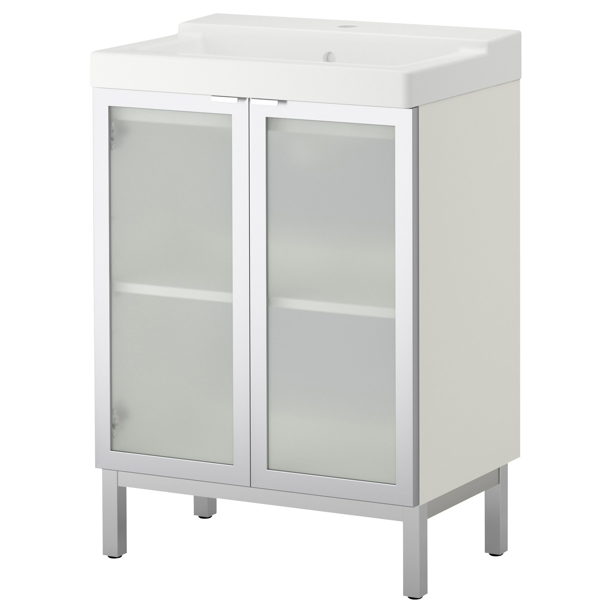 "LILL…NGEN T""LLEVIKEN Sink cabinet with 2 doors aluminum IKEA"