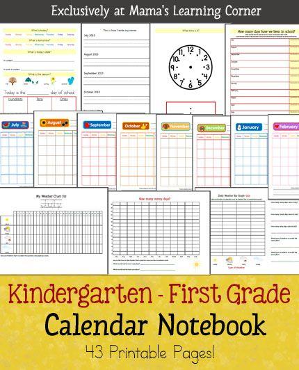 Kindergarten-First Grade Calendar Notebook Weather data, Bar