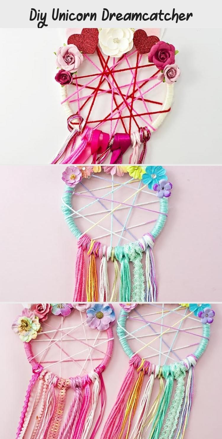 Diy Unicorn Dreamcatcher  DIY These cute and easy DIY Unicorn Dreamcatchers are a fun unicorn craft for kids or for a unicorn party