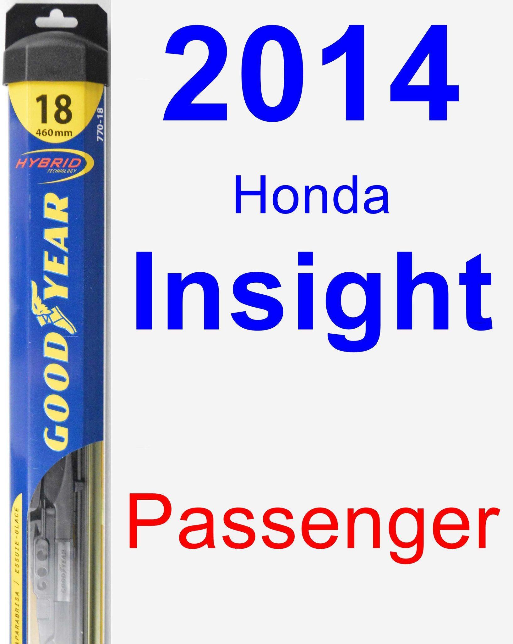Passenger Wiper Blade for 2014 Honda Insight Hybrid