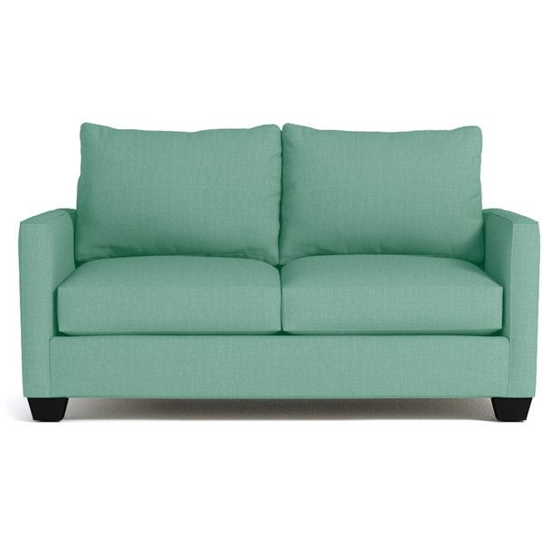 Apt2B Tuxedo Mint Green Apartment Size Sofa (11 470 SEK) ❤ liked on ...