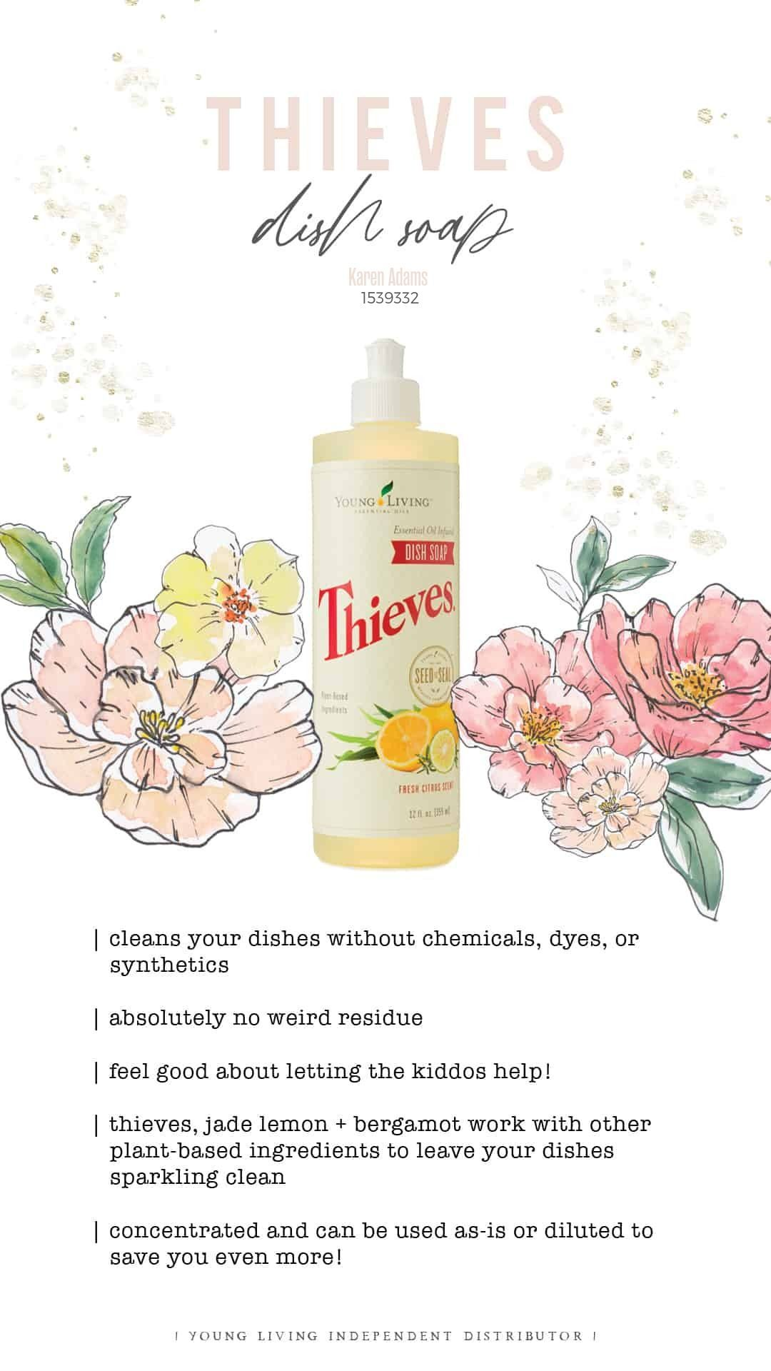 Thieves Dish Soap is formulated without toxic chemicals