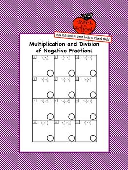 Multiplication division of negative fractions pinterest negative students will practice multiplying and dividing rational numbers in the form of positive and negative fractions with this worksheet ibookread ePUb