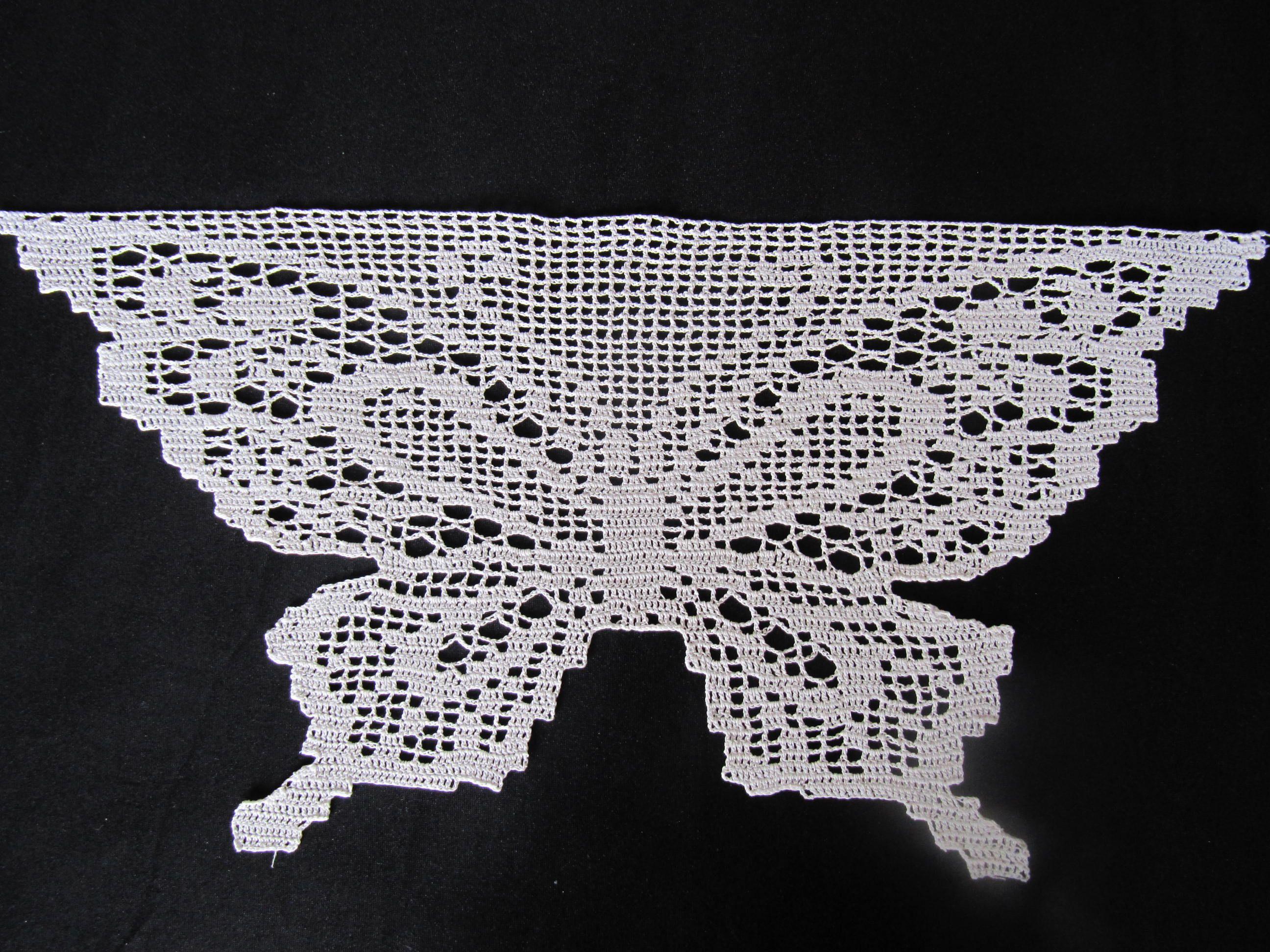 Filet crochet butterfly. Made from a Japanese pattern book | Crochet ...