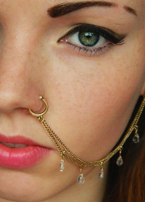 Crystal Nose Stud Nose Ring Nose Jewelry Indian Nose Ring Silver Nose Piercing Be Friendly In Use Body Piercing Jewelry Body Jewelry