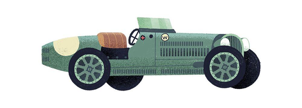 經典汽車的插畫圖鑑   MyDesy 淘靈感
