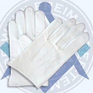 Handschuhe aus weißem Nappa-Leder