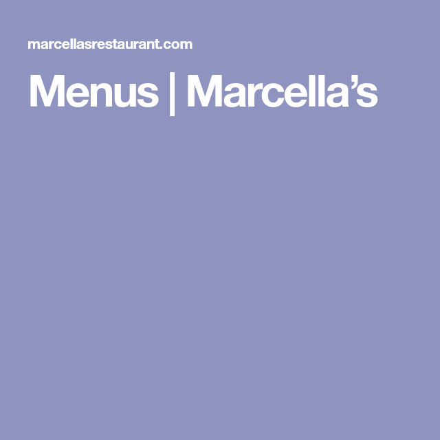 Marcella At Town Center: Menu, Mobile Boarding Pass