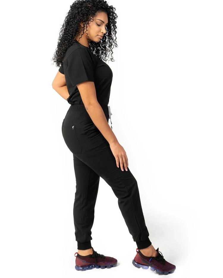 Women's Black Jogger Scrub Pants