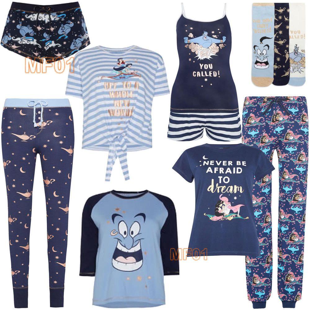 bbe67b1ea7 By Primark. Pyjamas (Top Bottom). DISNEY ALADDIN JASMINE GENIE. Camiset  (Vest Shorts). T shirt. | eBay!