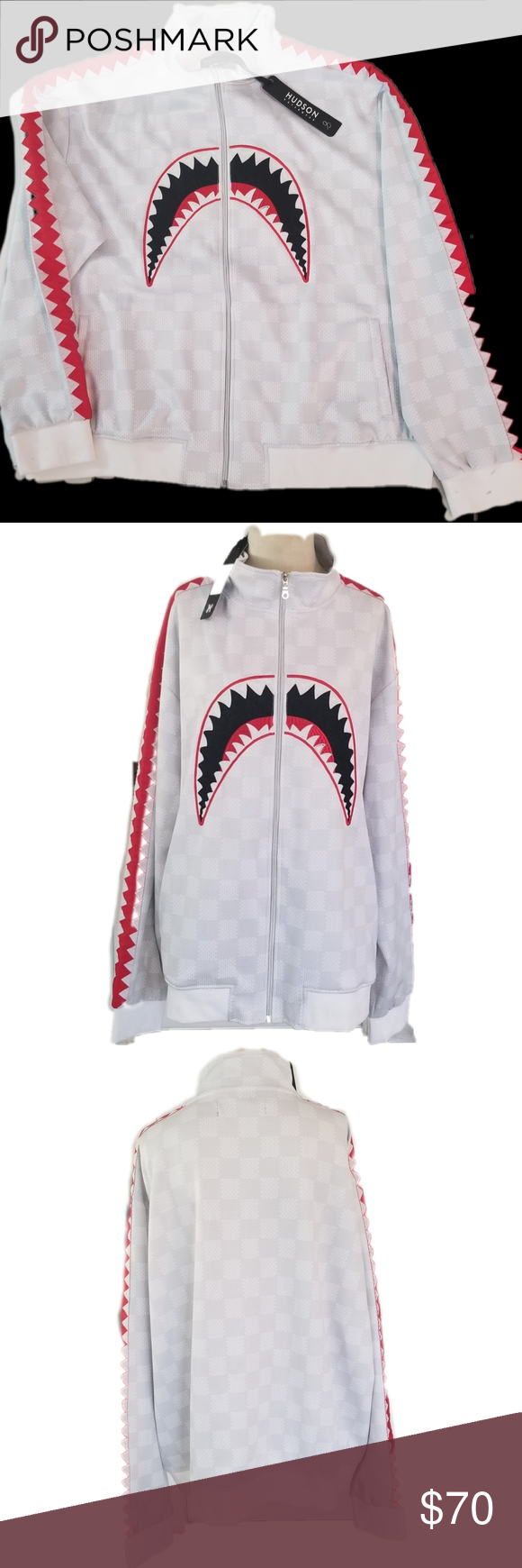 Hudson Outerwear Shark Mouth Size 4xl Hudson Outerwear Shark Mouth Size 4xl White With Red Trim Measurements Are Approx Fashion Clothes Design Fashion Trends [ 1740 x 580 Pixel ]