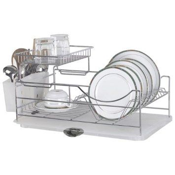 Sakura Compact Dish Rack Stainless Steel Kitchenware Drying Rack
