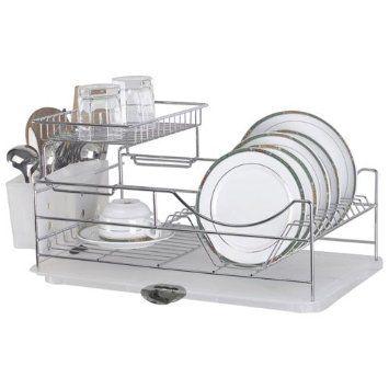 Sakura Compact Dish Rack Stainless Steel Kitchenware Drying Rack
