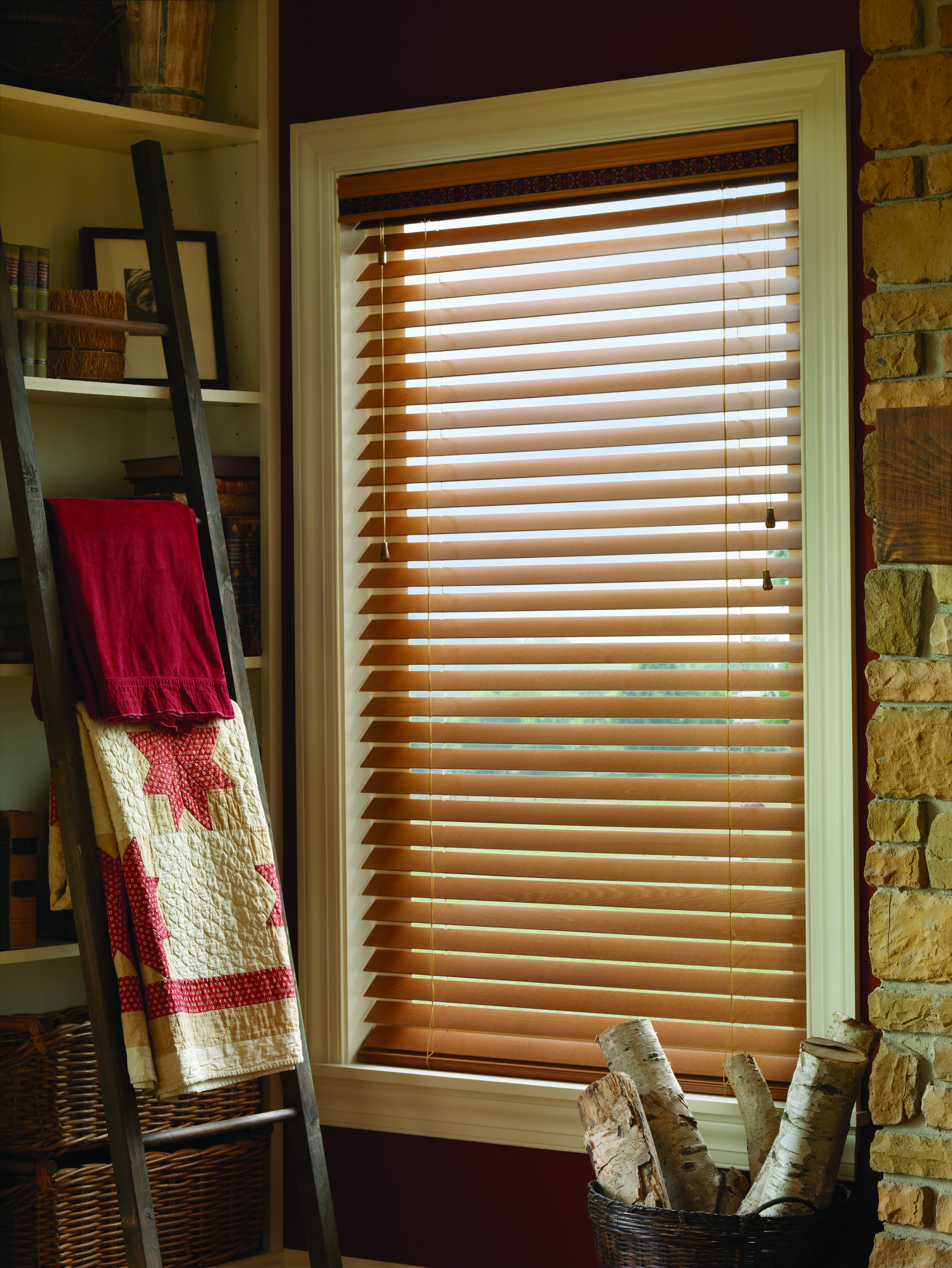 Keep That Rustic Style With Custom Wood Blinds Wood Blinds Custom Window Coverings Blinds