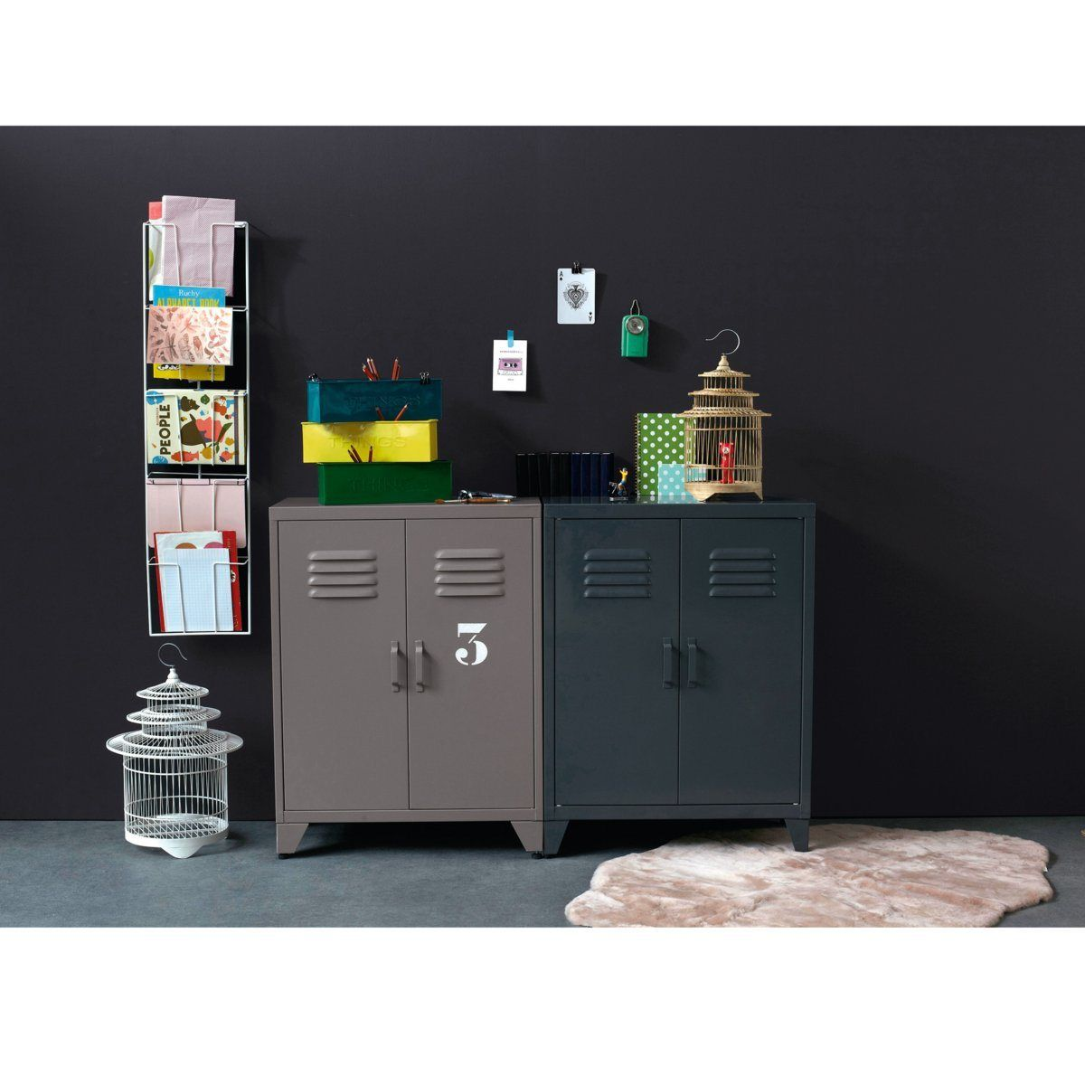 Meuble d 39 entr e armoire locker 2 coloris am pm la redoute am pm la redoute pinterest - Meuble d entree la redoute ...