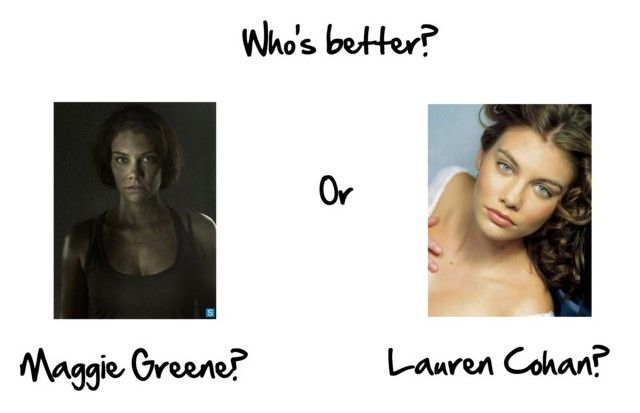 """""""Maggie Greene or Lauren Cohan?"""" by twdrickgrimes ❤ liked on Polyvore featuring art"""