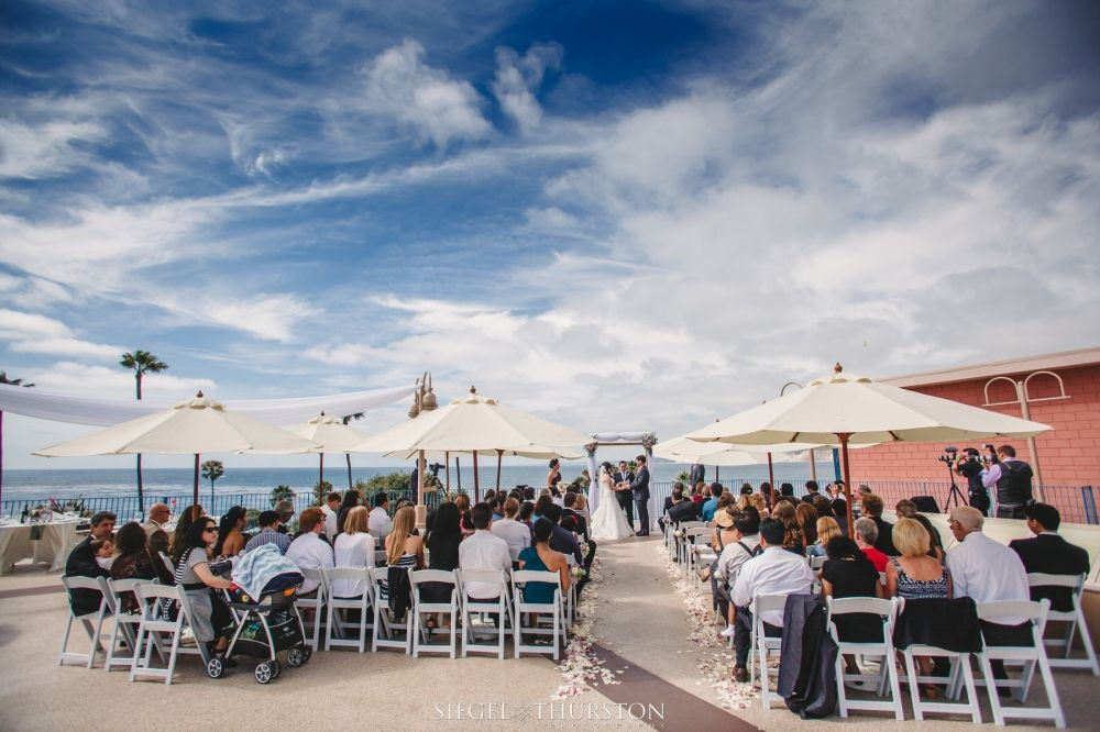 This Was A Wonderful Outdoor Wedding On The Rooftop Of La Jolla Cove Suites Their