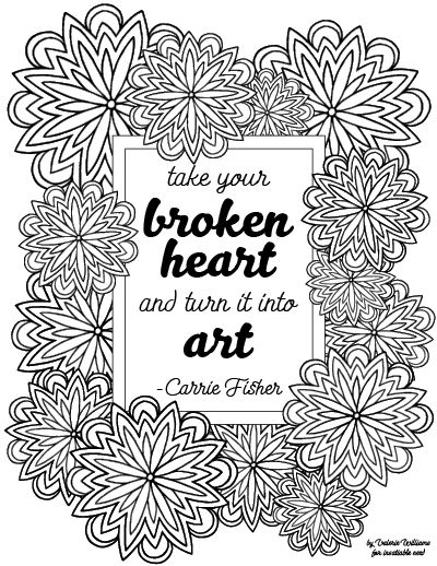 Carrie Fisher Quote Mandala Coloring Page Mandala Coloring Pages Coloring Pages Mandala Quotes
