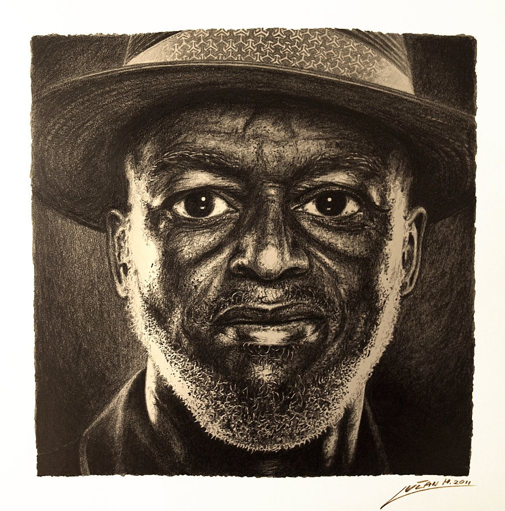Portrait Of Black Man Drawing Awesome Drawings