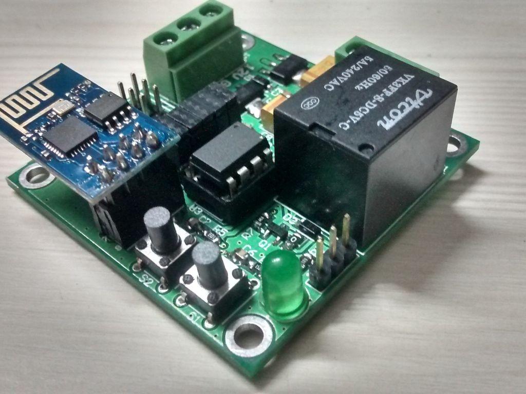 Smart switch open source esp wifi with attiny