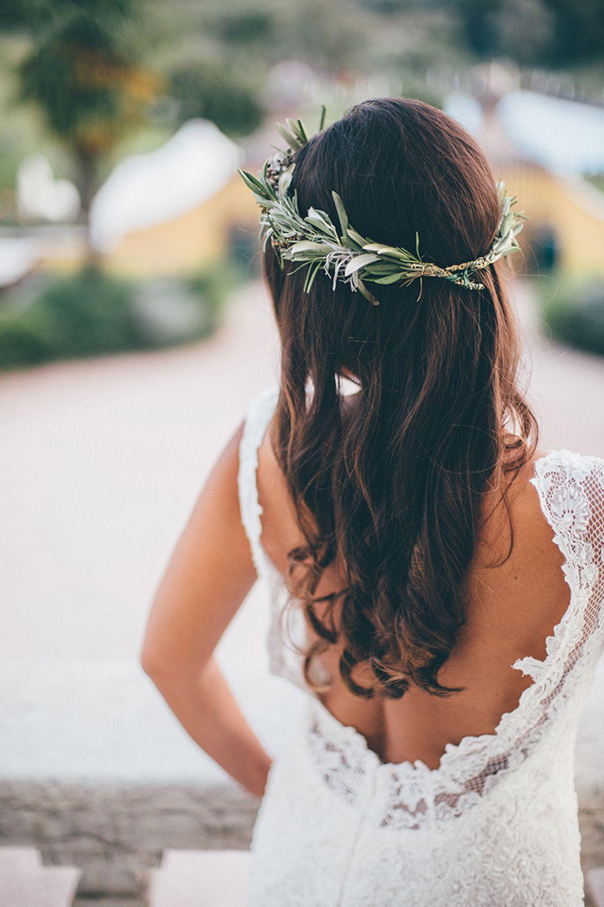 Mediterran Heiraten In Italien Haarkranz Hochzeit Haare Hochzeit Heiraten In Italien