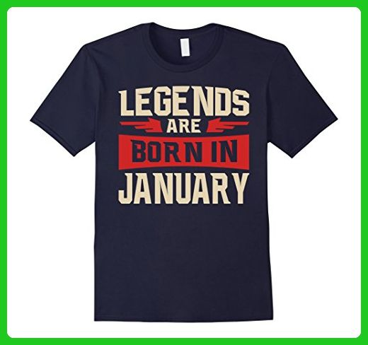 Mens Legends Are Born In January T-shirt - Birthday TShirt Medium Navy -  Birthday