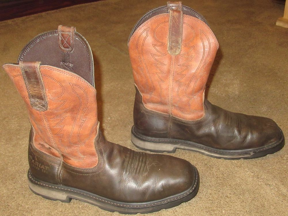 low price shopping best supplier Mens ARIAT Groundbreaker Steel Toe Leather Work Boots sz 10 D ...