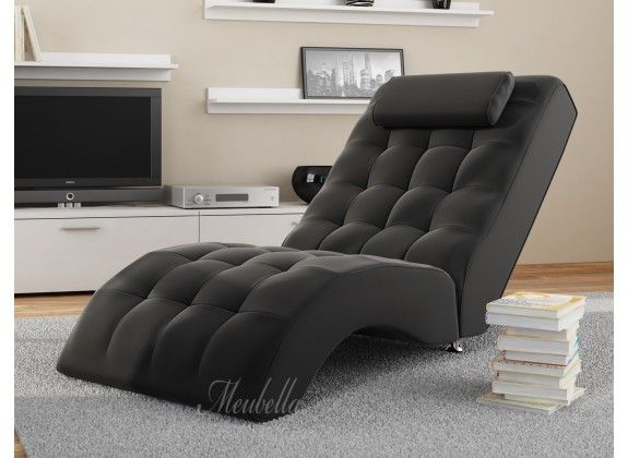 Lounge Stoel Woonkamer : Chaise longue cherry zwart in woonkamer chaise longue