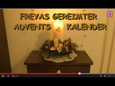 FreyaGlücksweg64 ★ 4. Dezember ★ Gereimter Adventskalender ★ 4. Tag ★ ......................................................4. Türchen, 4. Tuerchen, Adventskalender, Video-Adventskalender, Online-Adventskalender, viertes Türchen, viertes Tuerchen, 4. Toerechen, 4. Törchen, gereimter Adventskalender, Adventsgedichte, Advents-Gedichte, Adventskerze, Advents-Video, Adventsvideo, Adventskalender-Video, Video-Clip Adventskalender,