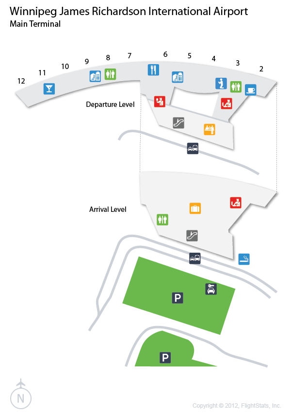 winnipeg airport terminal map Flightstats Airport Airports Terminal International Airport winnipeg airport terminal map
