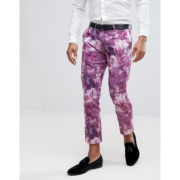 Noose Monkey Printed Cropped Pant 40 liked on Polyvore Impressive Mens Patterned Pants