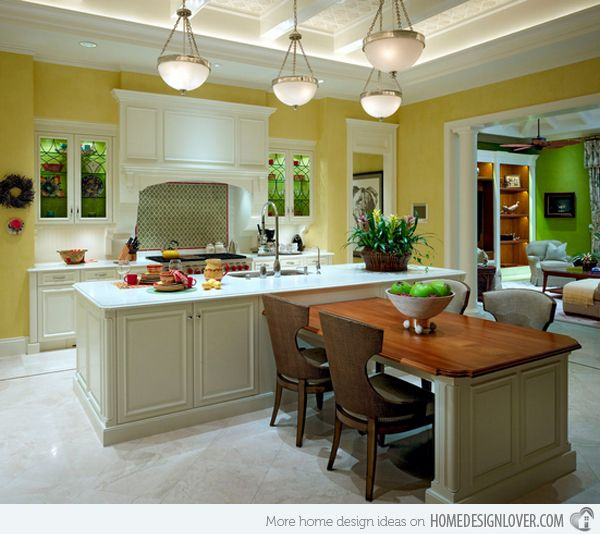 15 Beautiful Kitchen Island with Table Attached | Ideas for ...