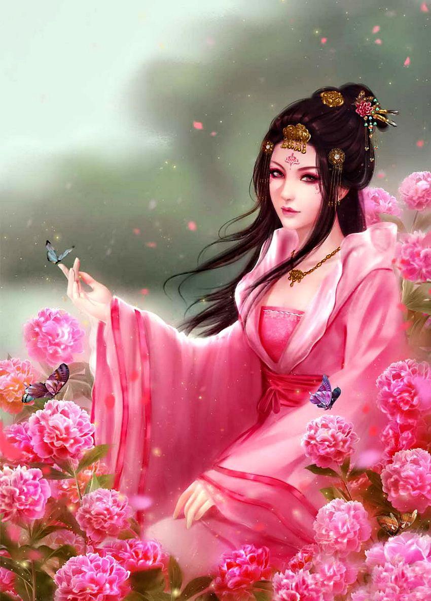 картинки фэнтези красивые китаянки необычной тройчатосложной форме